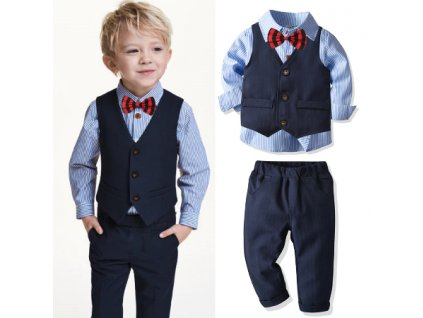 Screenshot 2020 10 31 CZK411 32 51% OFF 4pcs Boys Suits Baby Striped Shirt Vest Trousers Formal Blazer British Gentleman Ca[...]