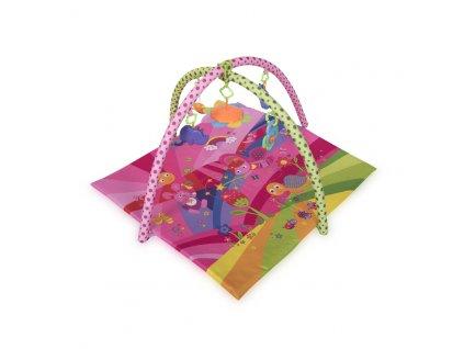 Hrací deka s hrazdou Lorelli FAIRY TALES PINK 89х84