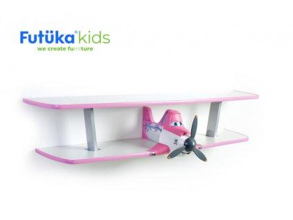 Dětská polička Futuka kids AIR-2 dvoupatrová PINK