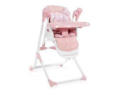 2v1 Jídelní židlička-houpačka Lorelli VENTURA PINK
