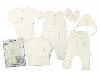 118685 203026 baby nellys velka sada do porodnice teddy 6 ti dilna v krabicce kremova