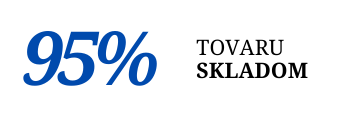95% tovaru skladom