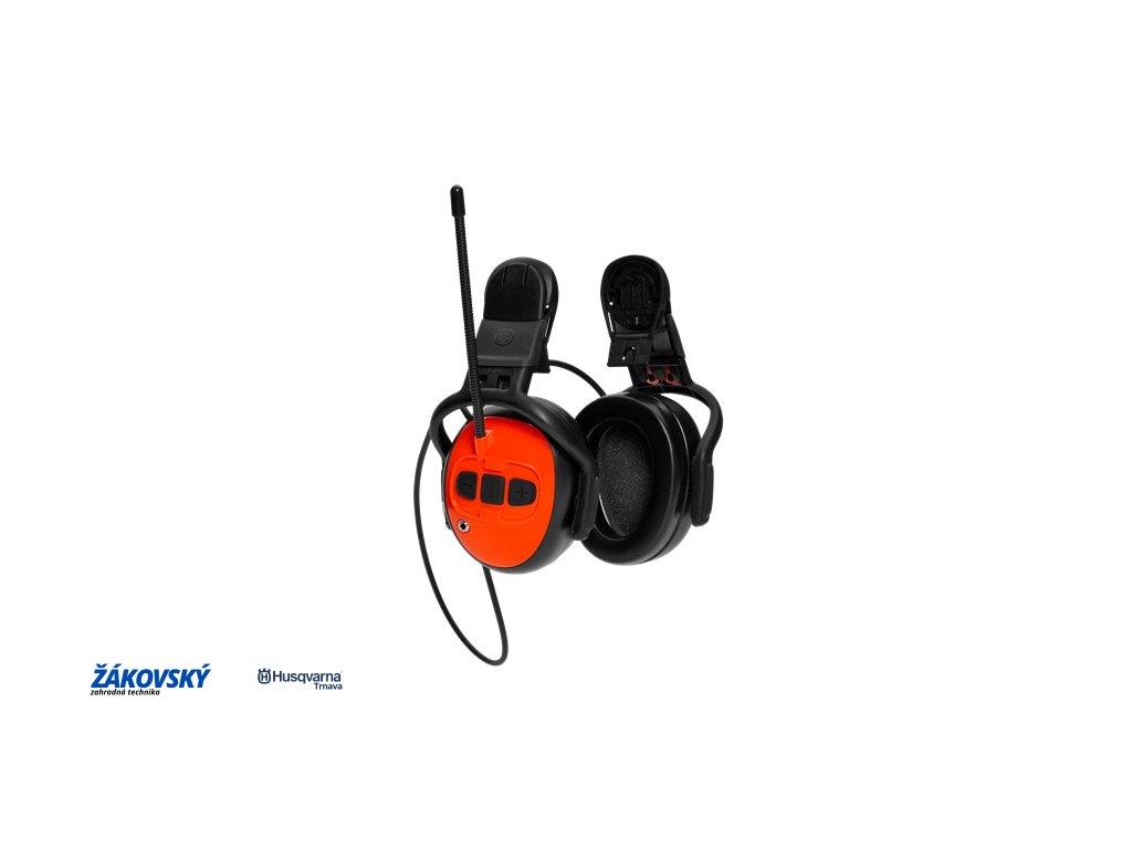 Chrániče sluchu s FM rádiom na pripevnenie na prilbu  / len samotné mušle /