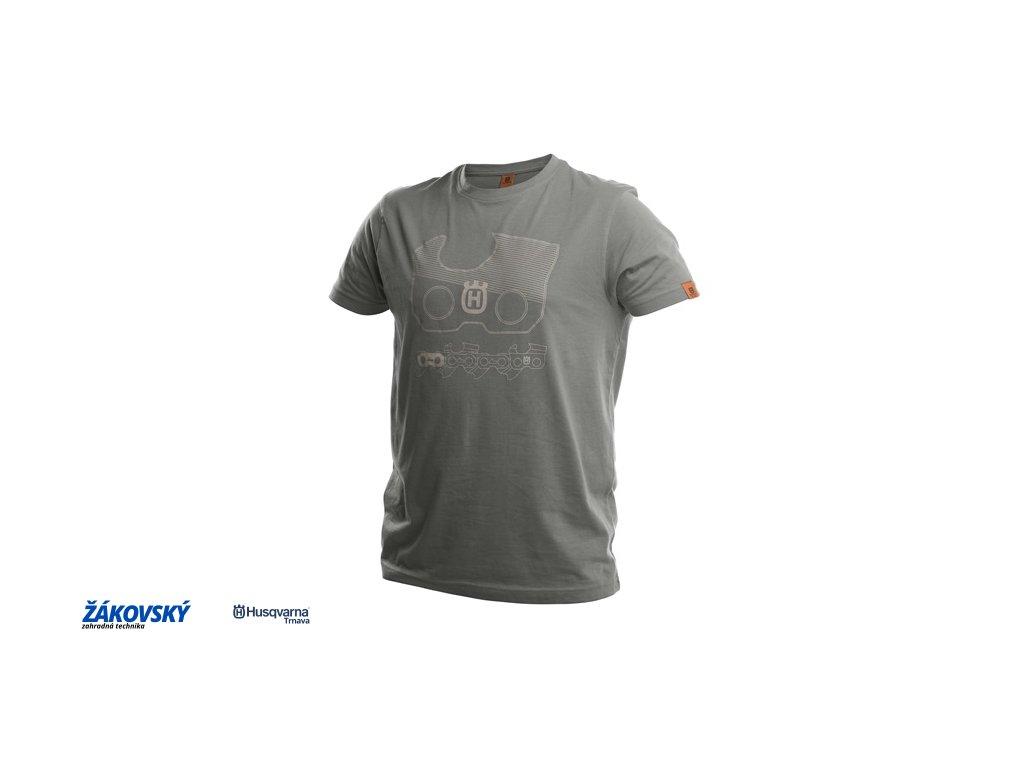 Tričko X-Cut s krátkym rukávom, unisex, šedé