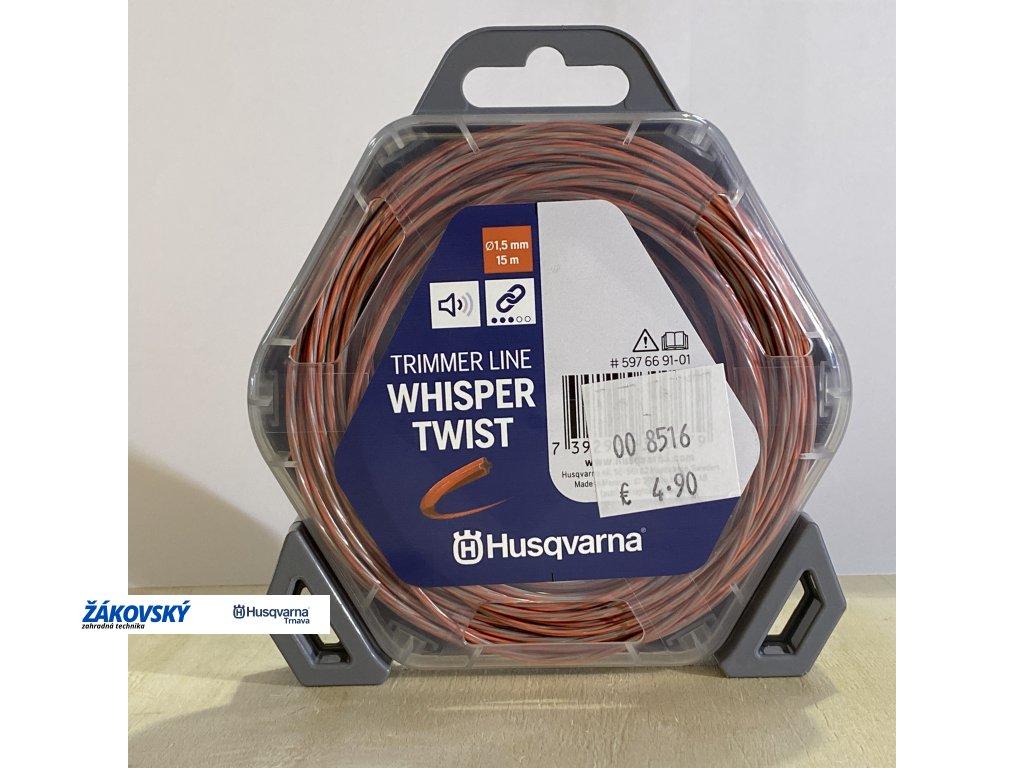 Vyžínacie lanko Whisper Twist 1,5mm - 15m