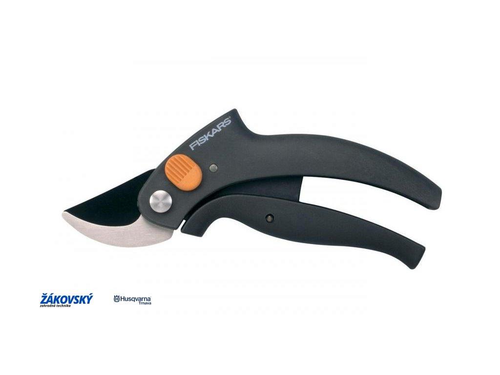 Nožnice záhradné s pákovým prevodom dvojčepeľové PowerLever FISKARS