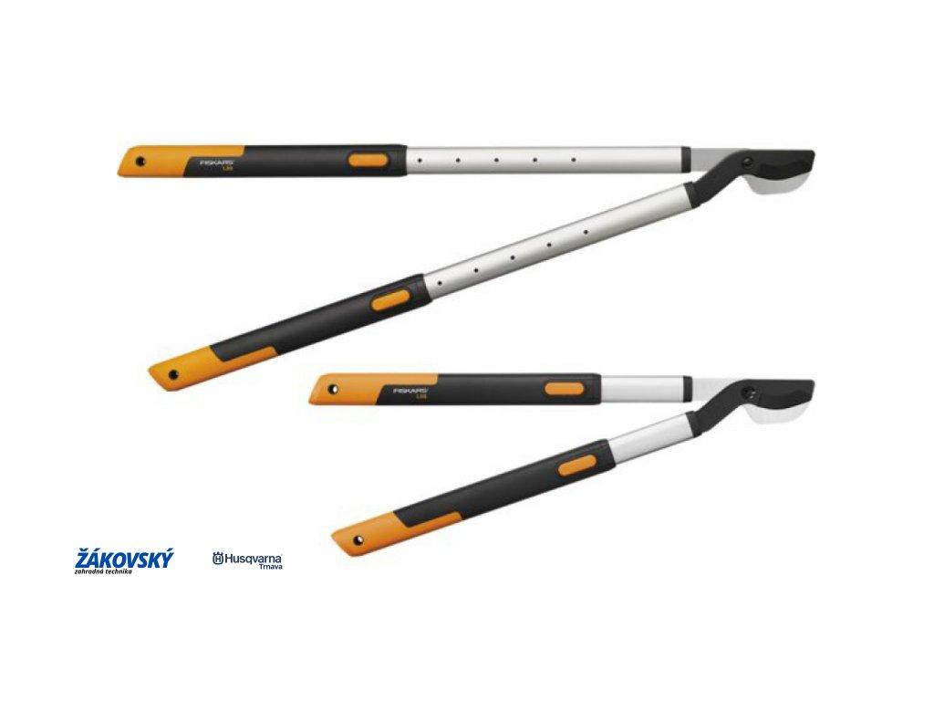 Teleskopické dvojčepeľové nožnice na silné konáre FISKARS SmartFit L86