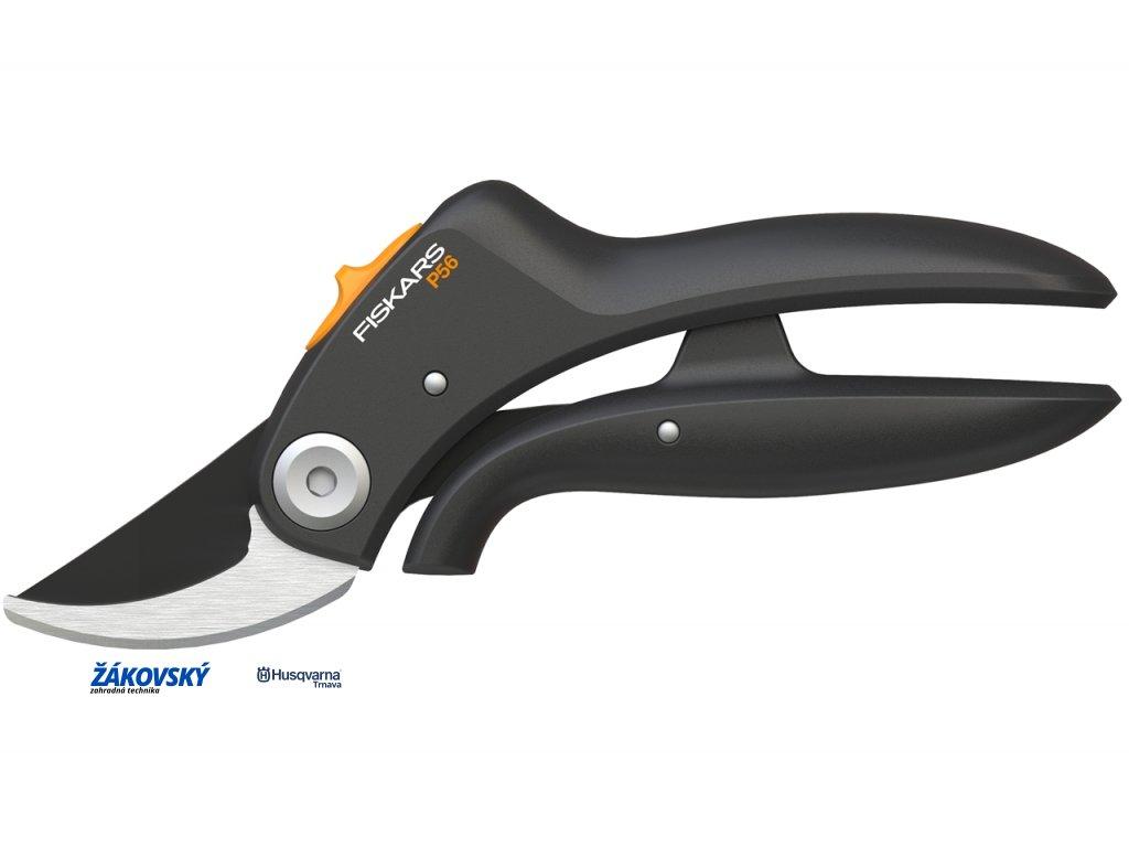 Dvojčepeľové záhradné nožnice FISKARS PowerLever P56