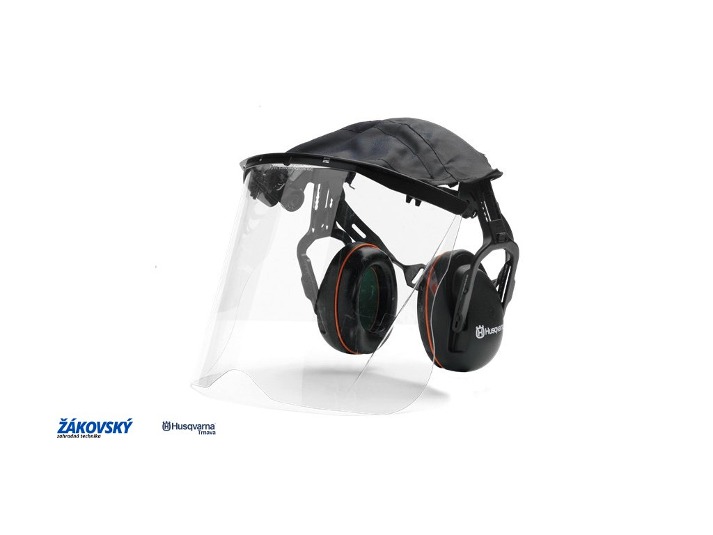 Chrániče sluchu so štítom z plexiskla
