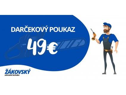 Darčekový poukaz v hodnote 49 €