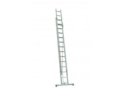 Rebrík dvojdielny výsuvný s lanom 7314 PROFI