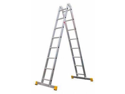 Rebrík dvojdielny kĺbový 4204 PROFI PLUS