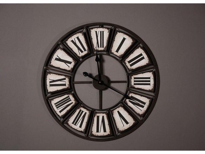 Industriální nástěnné hodiny - průměr 61 cm
