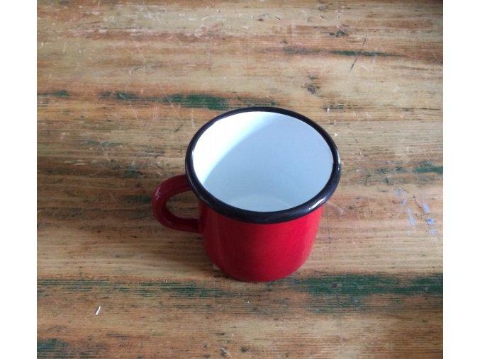 VENKOV -  smaltovaný hrnek 0,4 l,  červený