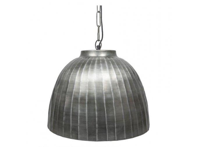 industriální stříbrný lustr