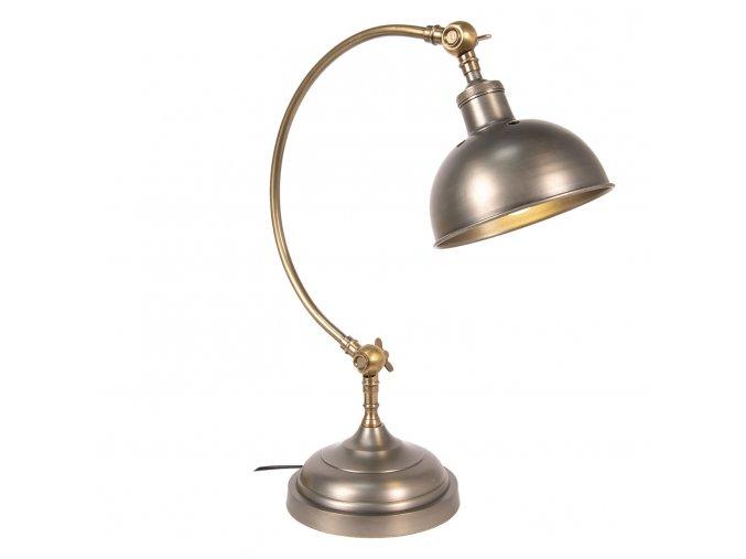 stolní lampa stříbro bronz2