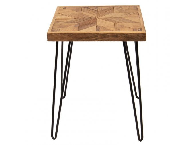 odkládací stoleke kova dřevo