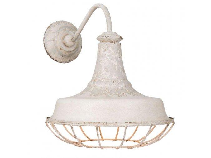 nástěnný lampa bílá patina 1