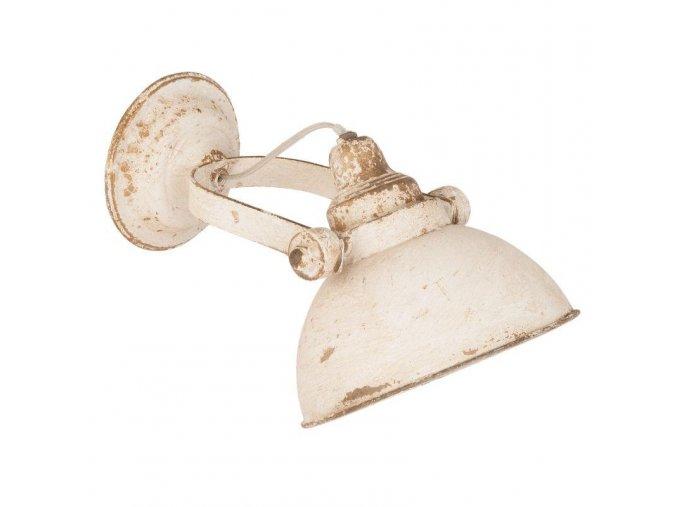 vintage lampa nástěnná bílá malá