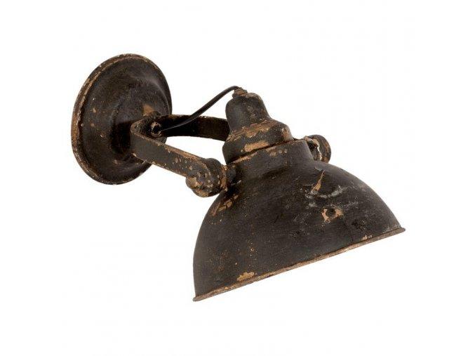 černá lampa industrialní