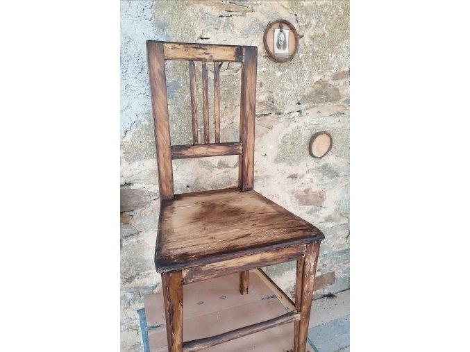 """Židle - VENKOVSKÁ KLASIKA - na objednávku, povrchová úprava """"moudrá léta"""""""