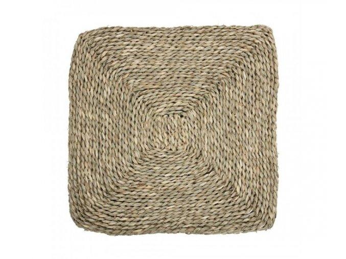 ctvercovy podsedak z morske travy 4040 cm