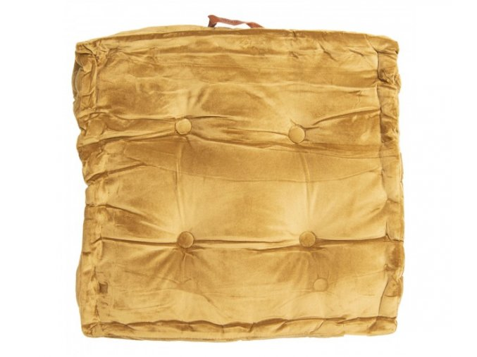 sedak na zidli s vyplni v horcicove zlute 40404 cm