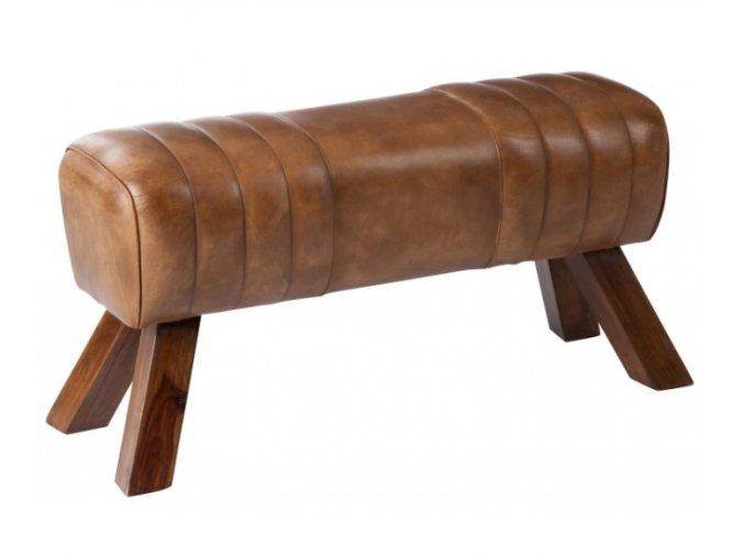 hneda kozena lavice v podobe gymnasticke cognac 913648 cm (2)