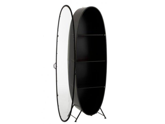 cerna ovalna kovova skrin s polickami eclipse 6042199cm (3)