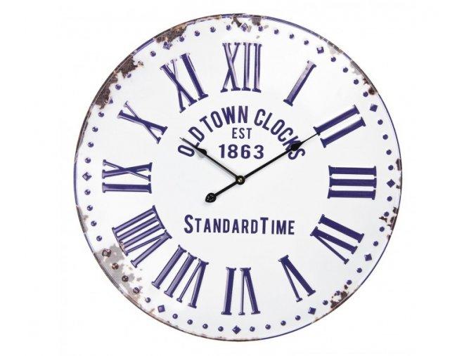 bilo modre plechove hodiny o 574 cm 1aa