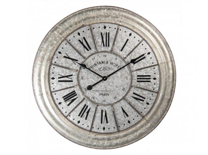 kovove nastenne hodiny s rimskymi cislicemi printania hotel paris o 705 cm 1aa