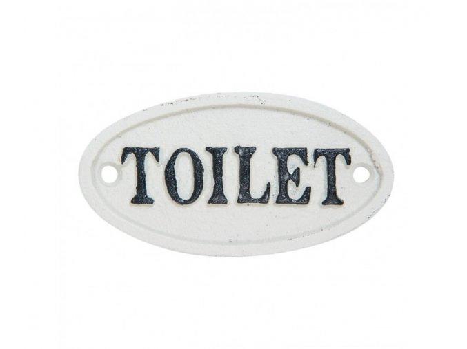 bila litinova cedulka toilet 105 cm