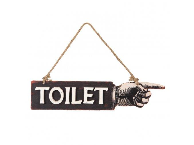 nastenna drevena cedule toilet 3928 cm