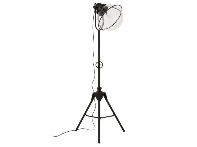 cerna kovova retro stojaci lampa tripod 5552180cm