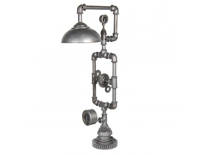 stribrna kovova stojaci lampa design 462698 cm