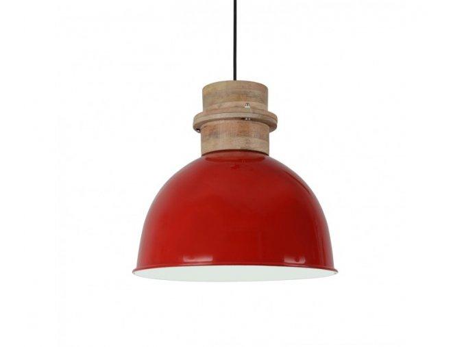 cervene zavesne kovove svetlo legno o 3030 cm