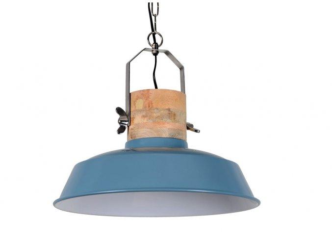modre zavesne kovove retro svetlo loreto vintage blue o 34 31 cm