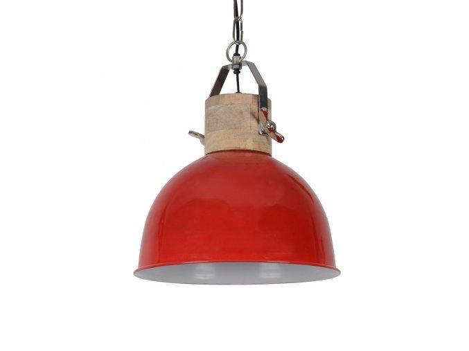 cervene zavesne kovove retro svetlo fabriano shiny red o 3035 cm