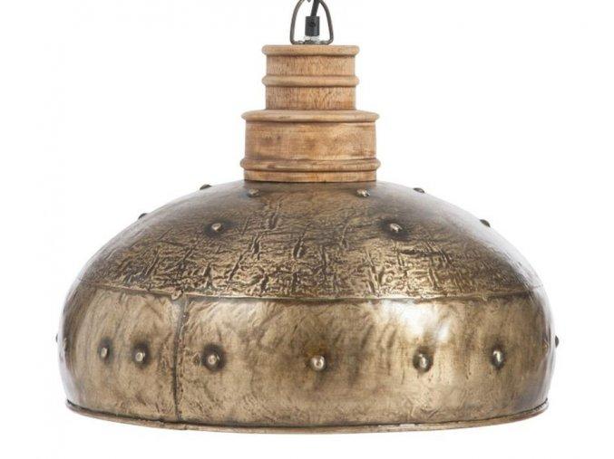 zlato hnede zavesne kovove svetlo antique gold o 41160 cm e27