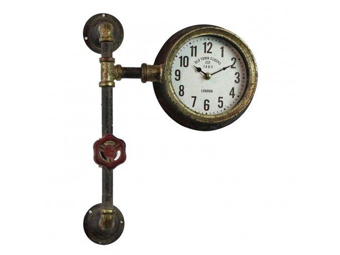 nastenne hodiny v industrialnim stylu 411430 cm