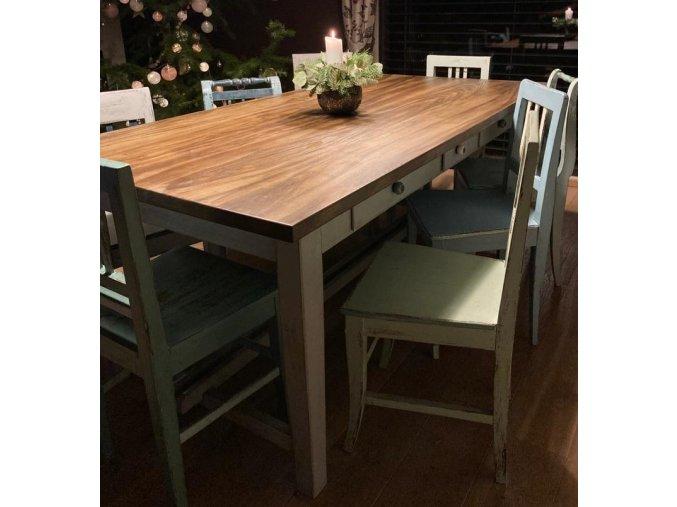 Velký jídelní stůl -  pro 8 osob, 3 šuplíky