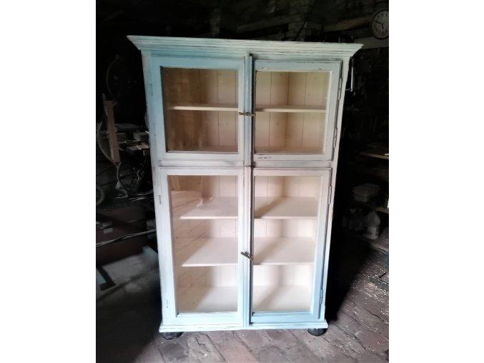 Skleník / vitrína   -  ADÉLKA - ze starých oken, dvoudílná