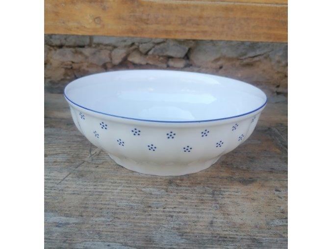 Babiččin porcelán - TEČKOKVÍTKY - salátová mísa - 24 cm