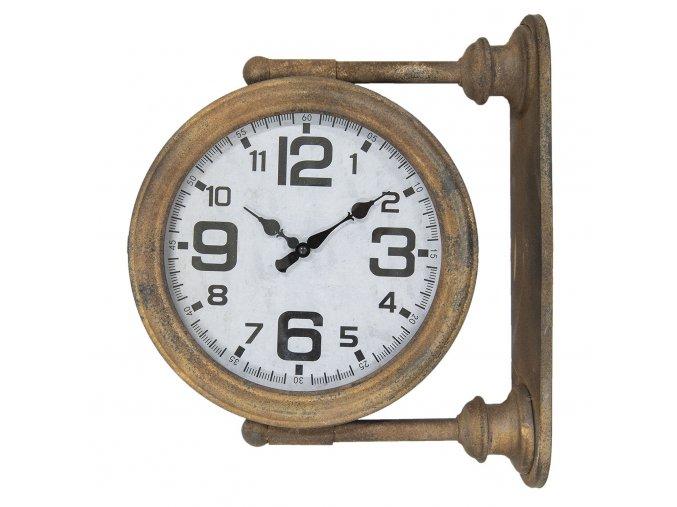 kovove nastenne hodiny hnede 431237 cm
