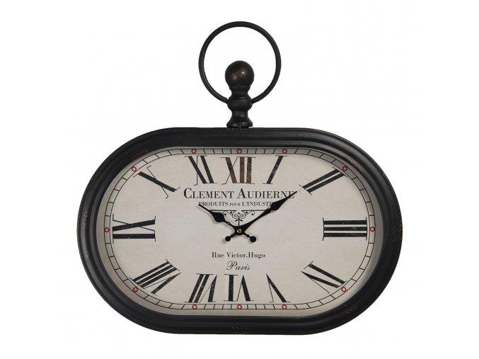ovalne vintage hodiny clement audierne 50344 cm 1aa