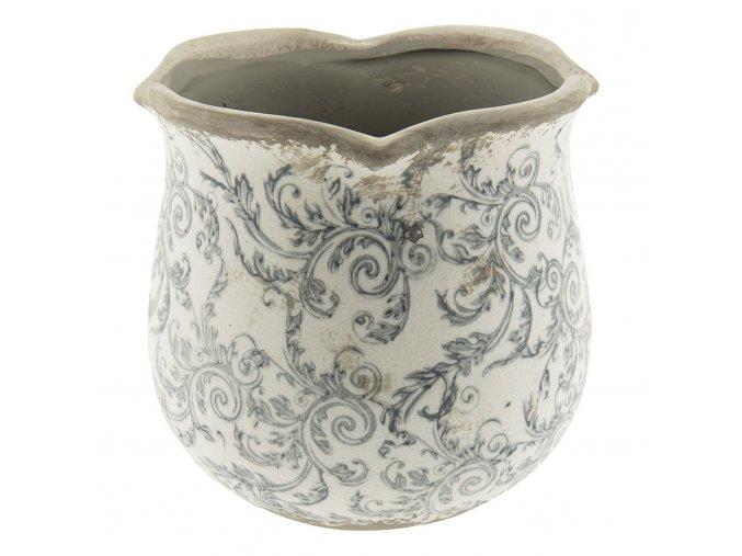 keramicky obal na kvetinac s ornamenty o 1817 cm