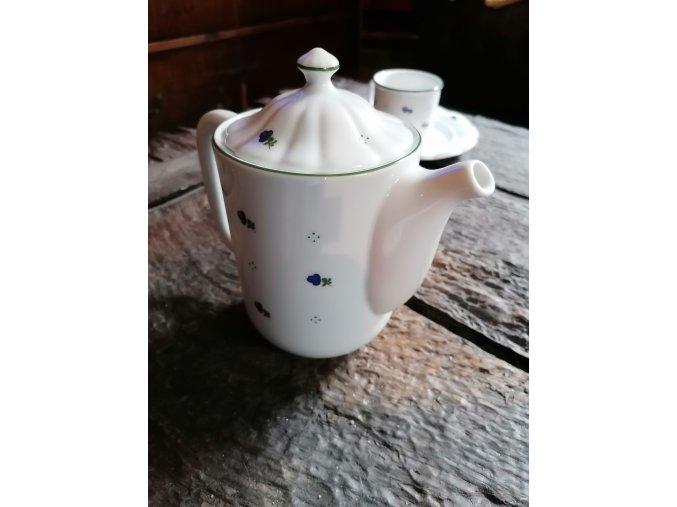 Babiččin porcelán - modré kvítky -- konvice s víčkem - 1,15 l
