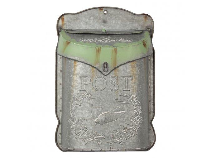 sedivo zelenkava retro postovni schranka cina 27839 cm