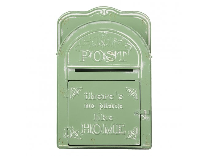 zelena retro postovni schranka post home s patinou 26939 cm