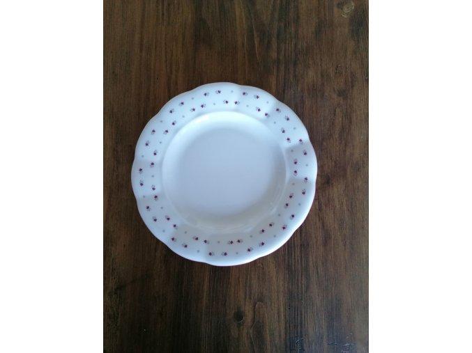 Babiččin porcelán - růžokvítky - tlustostěnný dezertní talíř - 19 cm